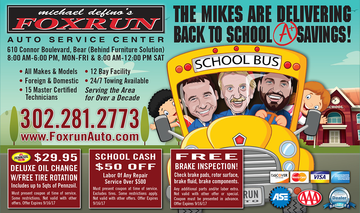 It's Time for Back to School Vehicle Maintenance